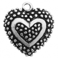 Heart with Dots Pendant