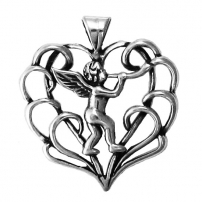 Heart w/Angel Pendant