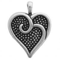 Heart with Scroll Pendant