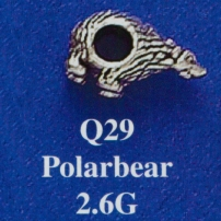 Polar Bear Spacer Bead