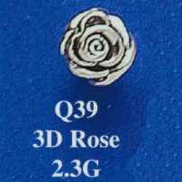 3D Rose Spacer Bead