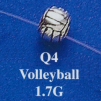 Volleyball Spacer Bead