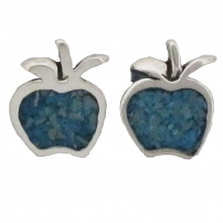 Apple, Turquoise Inlay Earrings