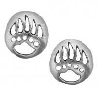 Bear Paw Print Earrings