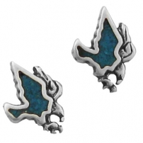 Eagle, Turquoise Inlay Earrings