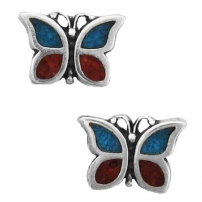 Butterfly, Chip Inlay Earrings