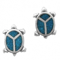Turtle, Inlay Earrings