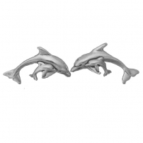 Dolphin with Calf Earrings