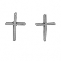 Cross, Plain Earrings