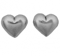 Heart, Puffed Earrings