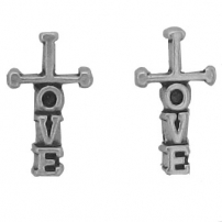 Cross, Love Earrings