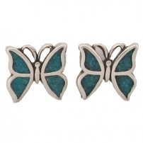 Butterfly, Turquoise Inlay Earrings