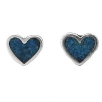 Inlay Heart, T Earrings