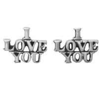 I Love You Earrings